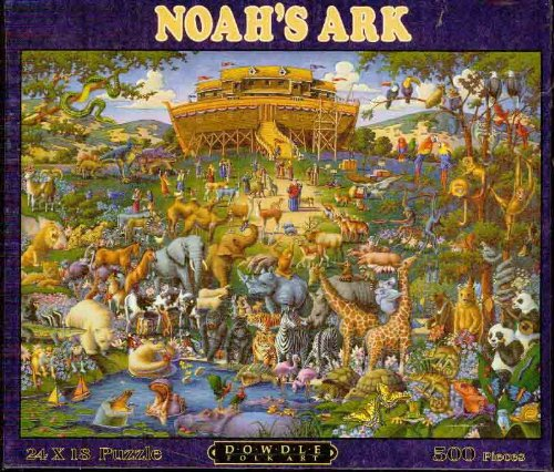 Picture of Dowdle Folk Art Noah's Ark - 24 X 18 - 500 Piece Puzzle (B00534VY0I) (Jigsaw Puzzles)