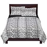 Regal Collection 300-Thread-Count Cotton Zebra Print Full/Queen Sheet Set,  ....