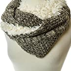 Marled Shearling Infinity Scarf