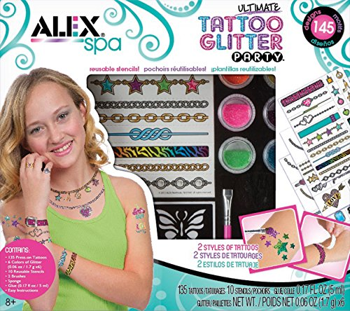 ALEX Toys Spa Ultimate Glitter Tattoo Party Craft Kit (Tattoo Kit For Kids compare prices)