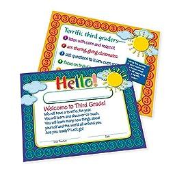 Teacher Peach Welcome-to-Third-Grade Certificates 50 Pack