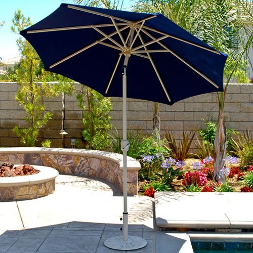 7.5u0027 Deluxe Auto Tilt Patio Umbrella With Sunbrella Fabric (Beige / Bronze  Frame). BY Patio Shoppers