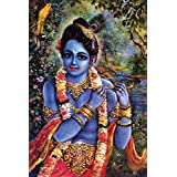 [ Myhome ] Sri_Krishna Daiva Poster ( POSTER SIZE =30 Cm X 45 Cm ) Buy 1 And Get 1 Set Vinyl Sticker(29 HEARTS,1 CANNON) FREE Check Secondary Image