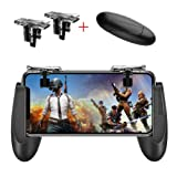 Mobile Game Controller [Upgrade Version] Mobile Gaming Trigger for PUBG/Fortnite/Rules of Survival Gaming Grip and Gaming Joysticks for 4.5-6.5inch Android iOS Phone (1Pair+1Gamepad) (Color: Fortnite PUBG Mobile Triggers 2)