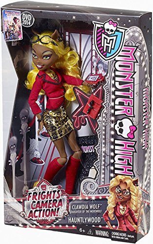 Monster High Frights, Camera, Action! Clawdia Wolf Doll - 1