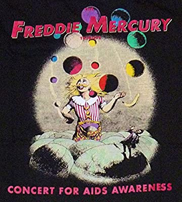 FREDDIE MERCURY Queen HARD ROCK CAFE Concert for Aids Awareness T SHIRT 1992 XL