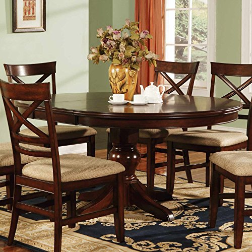 Winners Only Topaz Pedestal Dining Table - Cherry (Oval Pedestal Table With Leaf compare prices)