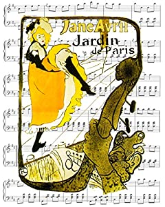 Toulouse lautrec jane avril at jardin de for Jardin de paris jane avril