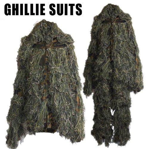 SHENKEL ステルス ギリースーツ グリーン迷彩 ウッドランド ghillie suits 狙撃手・ハンター
