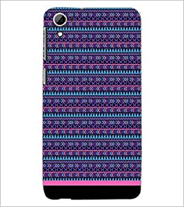 PrintDhaba Tribal Pattern D-1735 Back Case Cover for HTC DESIRE 826 (Multi-Coloured)