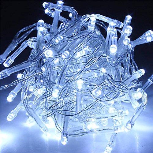 SOLMORE 20M 200 LED String Dekorative Strip Lichterkette Weihnachtsbeleuchtung für Weihnachten Party 220V Weiß