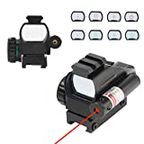 TargetEvo 1x33 Reflex Sights Red & Green 4 Reticles Dot Sight for Rifle Gun with 20mm Rail (Color: 1x33mm)
