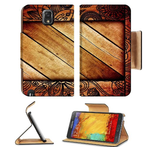 Pattern Wooden Block Print Samsung Galaxy Note 3 N9000 Flip Case Stand Magnetic Cover Open Ports Customized Made To Order Support Ready Premium Deluxe Pu Leather 5 15/16 Inch (150Mm) X 3 1/2 Inch (89Mm) X 9/16 Inch (14Mm) Liil Note Cover Professional Note front-910197