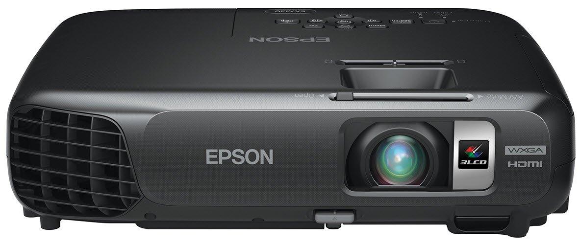 Epson EX7220 Wireless WXGA 3LCD Projector, 3000 Color Lumens, 3000 White Lumens