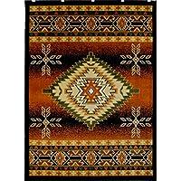 Southwest Native American Area Rug Design Bellagio 357 Black