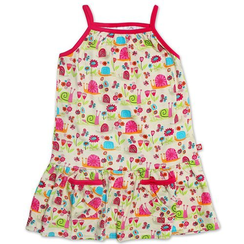 Zutano Girls Garden Snail Pocket