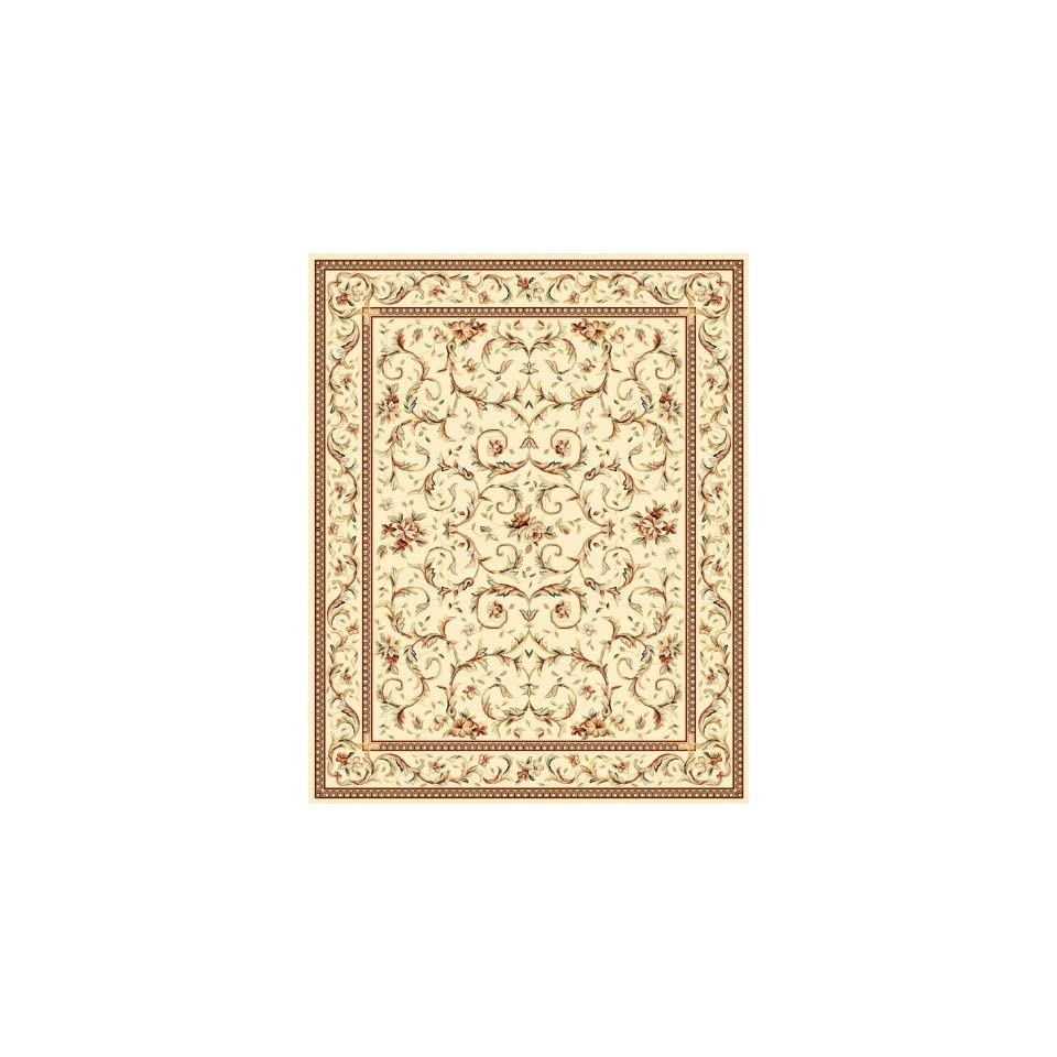 Safavieh Lyndhurst Collection LNH322A Traditional Scrolling Vines Ivory Area Rug (53 x 76)