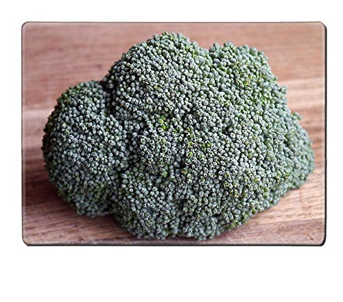 Luxlady Placemat Broccoli Vegetable Food Healthy Natural Rubber Material Image 498605 (Brocolli Baby Food compare prices)