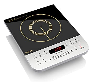 Philips Viva Collection HD4928 2100-Watt Induction Cooktop (Black)
