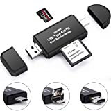 Memory Card Reader, Micro SD Card/TF USB C Card Reader and 3 in 1 USB Type C/Micro USB/USB Portable sdxc SD Card Adapters for PC & Laptop & Tablets & Smart Phones with OTG Function (Color: 3-in-1)