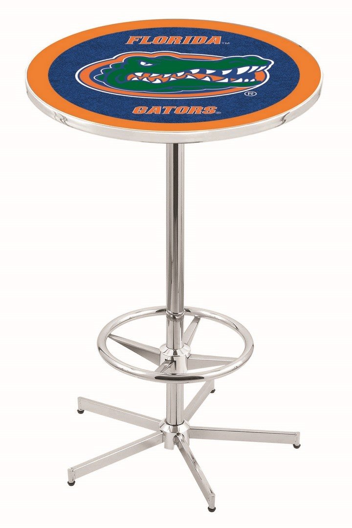 Holland Bar Stool Co. University Of Florida Chrome Pub Table iowa state university padded swivel bar stool 30 inches high