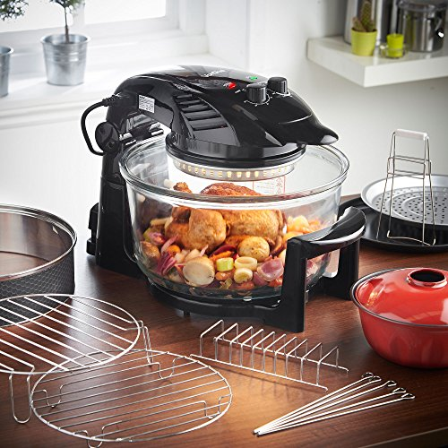 vonshef-premium-12-litre-hinged-lid-black-halogen-oven-cooker-1400w-max-with-timer-extender-ring-wit