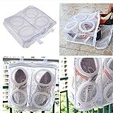 (28x24.5x8CM) Nylon mesh KIDS SHOES washing machine wash sports dirty shoes washing Laundry Dry Bag Shoe Wash Transparent Pouch