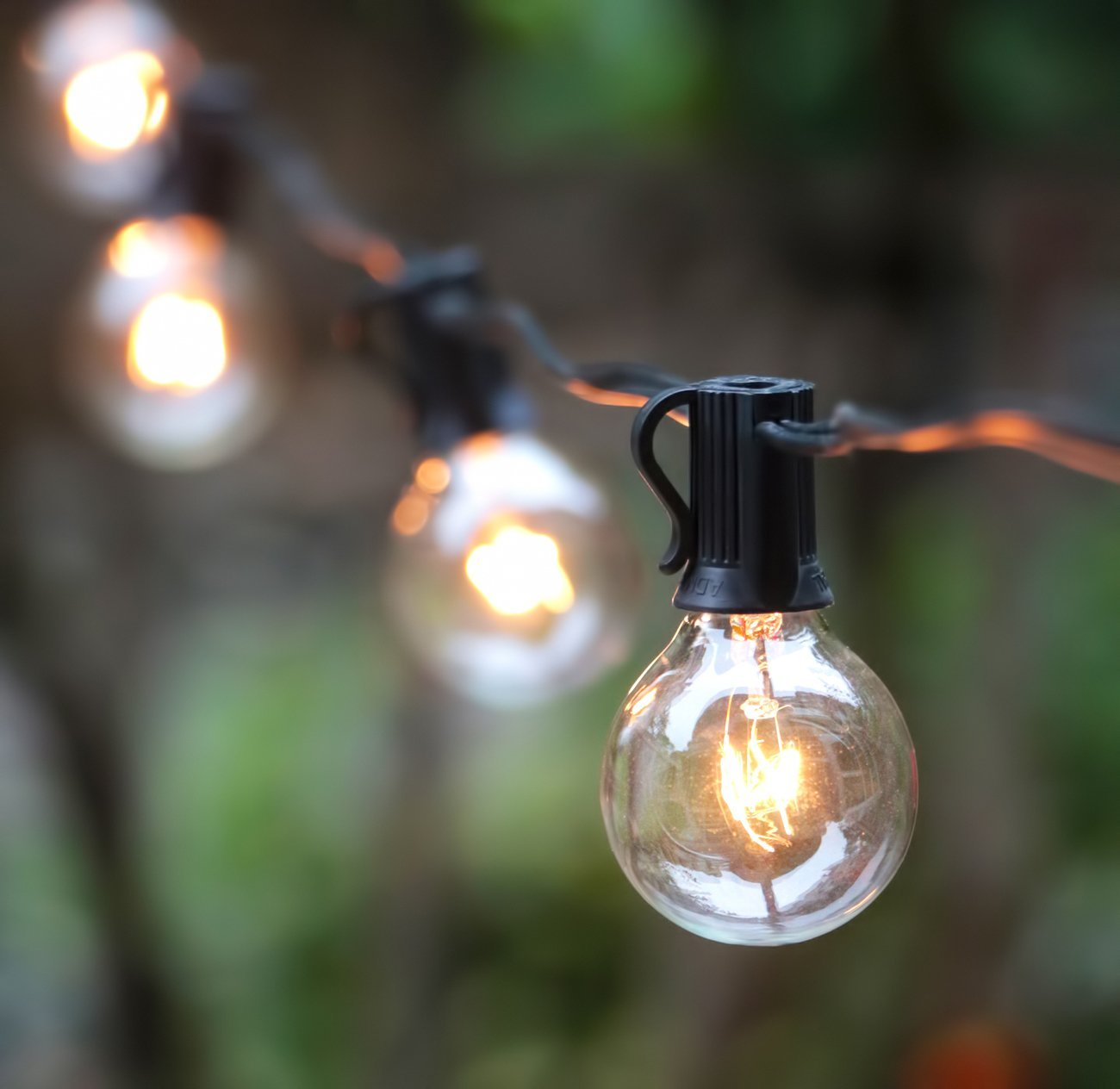 String Garden Lights Indoor Outdoor : 25ft G40 Globe String Lights with Bulbs UL Listed for Indoor Outdoor Commerci eBay