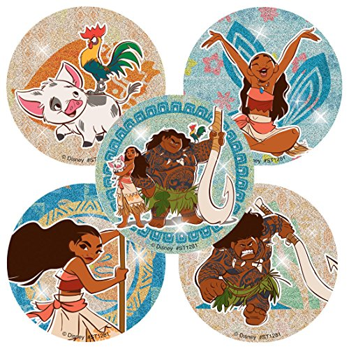 Moana Glitter Stickers