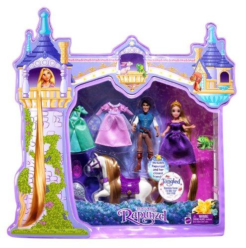 Buy Low Price Mattel Disney Tangled Rapunzel Deluxe Story Bag Figure (B0042ESGS8)