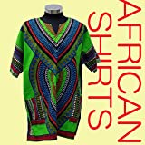 ダシキシャツ DASHIKI SHIRTS アフリカン ヒップホップ V字 グリーン
