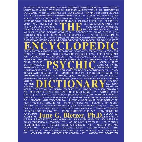 Image: Encyclopedic Psychic Dictionary: June G. Bletzer Ph D