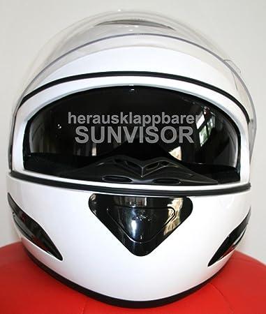 Casques de moto Casque intégral DD-33 avec pare-soleil Blanc S ABS, Polycarbon