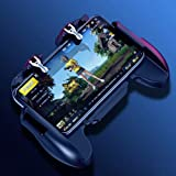 H5 Mobile Game Controller Shooter Joysticks Gamepad for PUBG/Knives Out/Rules of Survival PUBG Mobile Game Controllers Compatible 4-6.5 inch Android iOS Phone with Cooling Fan (Color: H5)