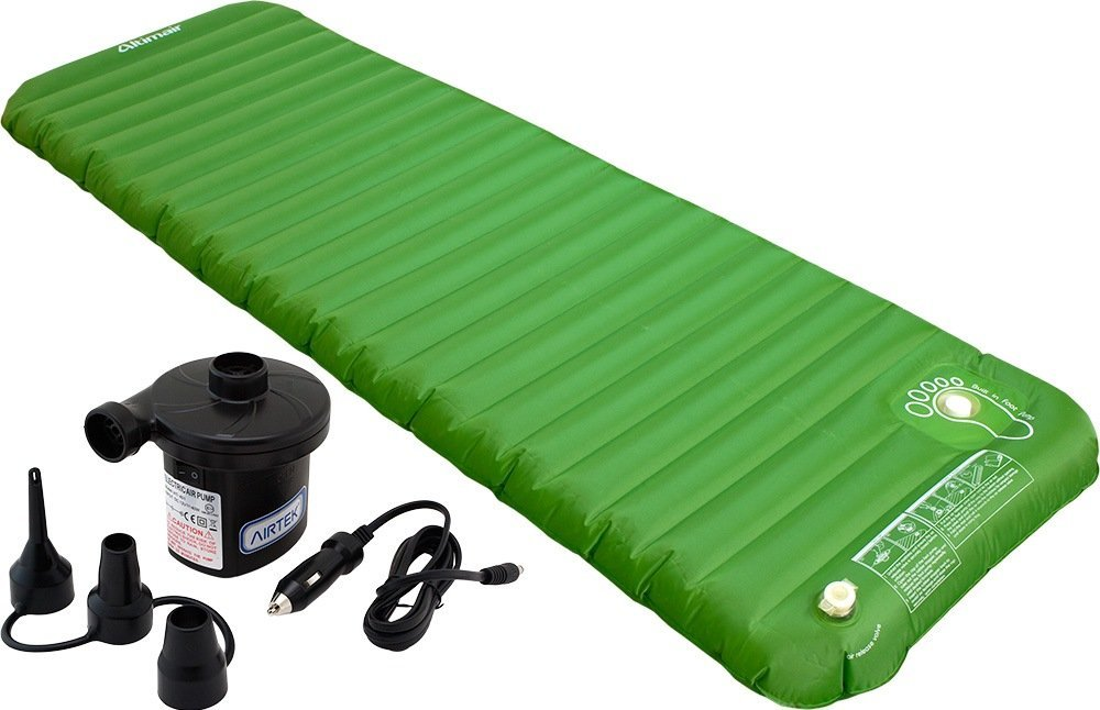 Altimair Ultra Light 3lb, Highest Quality TPU Outdoor Camping Air Mattress/Mat/Pad, Built-In Foot Pump Plus Portable Air Pump 2ABTPU01DBP