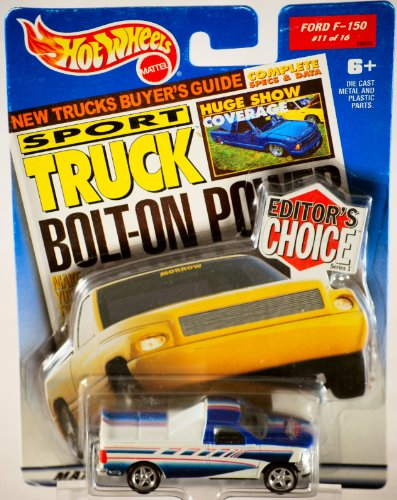 2000 - Mattel - Hot Wheels - Editor's Choice Series 1 - Sport Truck Magazine - Ford F-150 / Red, White & Blue Custom Paint - 1:64 Scale Die Cast Metal - #11 of 16 - MOC - New - Out of Production - Limited Edition - Collectible