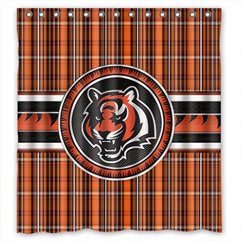 Bengals Shower Curtains Cincinnati Bengals Shower Curtain