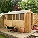 10ft x 6ft Shiplap Apex Wooden Storage Shed - Brand New Double Door 10x6 Tongue and Groove Sheds