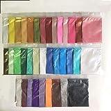 Mica Powder, Making Colorants, Handmade Soap Making Tools, Powder Pigments, Soap Liquid, Colors, Resin Dyestuffs Candle Making, Eye Shadow, Blush, Nail Art, Resin Jewelry, Artist, (36 Color) (Color: 36 Color)