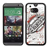 Be Good Phone Accessory Hard Shell Protective Cover Case for HTC One M8 Casino Slots Machine Grunge