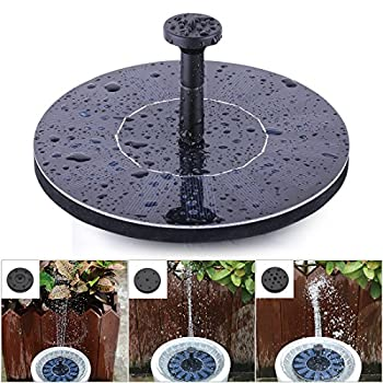 Solar Fountain Pump, FEELLE Solar Powered Floating Fountain Kit Solar Water Fountain for Bird Bath Pond, Pool and Garden Decoration