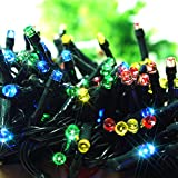 ZITRADES 100 LED RGB Solar String Fairy Muti-Color Lights, 55ft