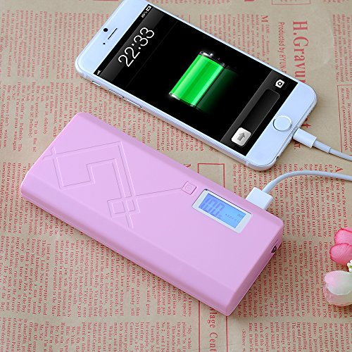 Victsing Portable 12000Mah Lcd Usb Power Bank External Battery Replacement Backup Charger With Dual Usb Ports