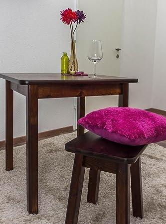 Massivholz Tisch 75x75 cm Kiefer, Farbe: Nuss