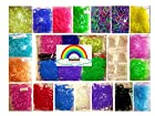 %65 OFF!!!5850pc Special Colors, Beautiful Loom Band Refill Kit From Rainbow Braid *Perfect Loom Band Refill Set *18 Colors & S- Clips to Make Rubber Band Bracelets * Compatible with All Rubber Band Looms* 18 Different Colors * Glitter-neon-glow in the Dark-polka-solid-pearl Colors*money Back Guarantee