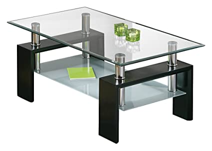 A la izquierda 50100045 mesa de centro vidrio sala de estar mesa de centro de cristal negro, nuevo