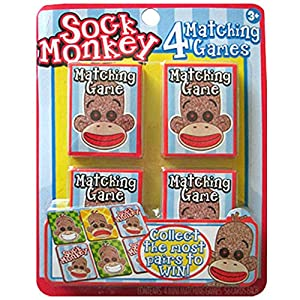 Sock Monkey Matching Party Game (4ct)