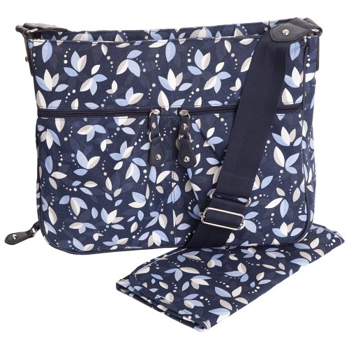 JoJo Maman Bebe Northcote Baby Bag, Navy Petal Print
