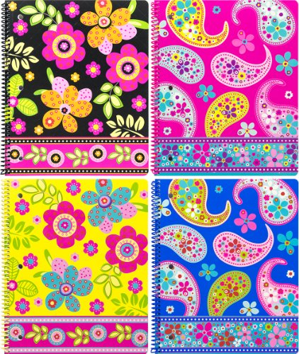 continental-accessory-corp-one-subject-notebook-boho-boutique-80-sheets-assorted-4-pack-4293