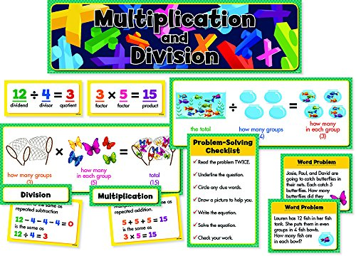 Creative Teaching Press Mini Bulletin Board Set, Multiplication & Division (4697)